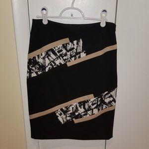 PRICEDROP!! NWOT WHBM Black/White/Tan Pencil Skirt